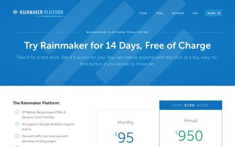 Screenshot of Trial Page newrainmaker.com - Trial - New Rainmaker - captured Oct. 29, 2014