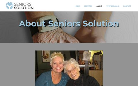 Screenshot of About Page seniors-solution.com - About | Seniors Solution | Ottawa, ON - captured Nov. 7, 2018