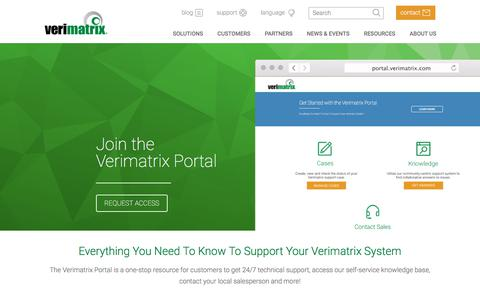 Screenshot of Signup Page verimatrix.com - Customer Care Portal Request | Verimatrix - captured Sept. 20, 2018