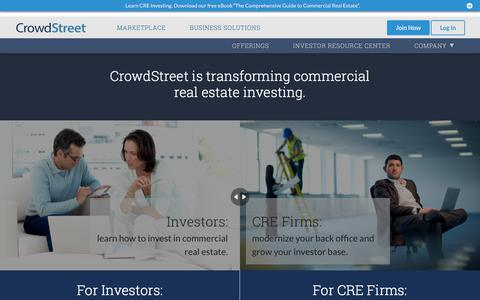 CrowdStreet Transforms CRE Investing - CrowdStreet