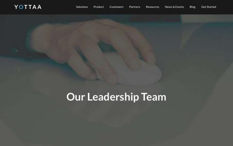 Screenshot of Team Page yottaa.com - Leadership | Yottaa - captured Oct. 21, 2015