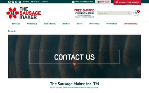 Screenshot of Contact Page Locations Page sausagemaker.com - Contact Sausage Making Experts  | The Sausage Maker, Inc. Contact US - captured Oct. 19, 2018