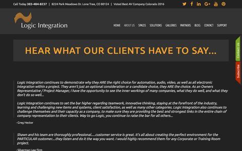 Screenshot of Testimonials Page logicav.net - Testimonials - captured Sept. 10, 2016