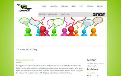 Screenshot of Blog zsportsclub.com - Z Sports Club - Z Sports Community Blog - captured Oct. 7, 2014