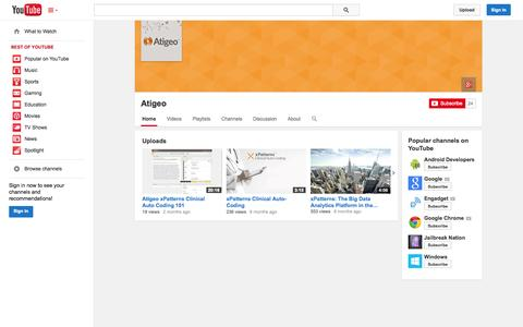 Screenshot of YouTube Page youtube.com - Atigeo  - YouTube - captured Oct. 22, 2014