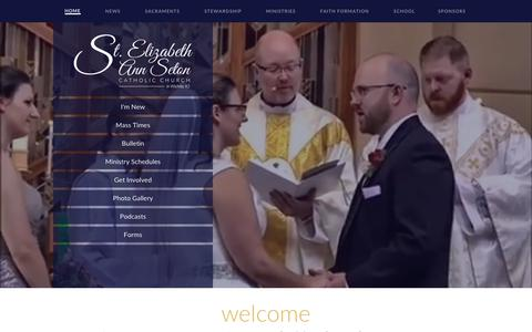 Screenshot of Home Page seaswichita.com - St. Elizabeth Ann Seton Catholic Church, Wichita, KS - captured July 3, 2018