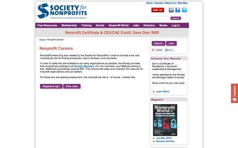 Nonprofit Jobs | NonprofitCareers.Org | Society for Nonprofits