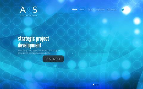 Screenshot of Home Page artandsciencecollaborative.com - Art & Science Collaborative, LLC | Multidisciplinary strategic project development and new ventures - captured Oct. 4, 2014