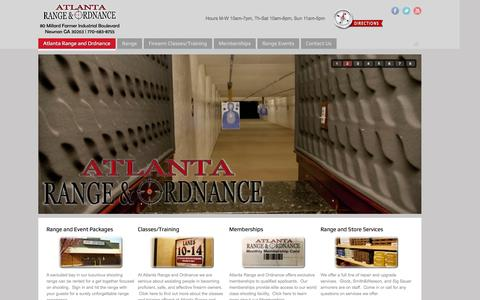 Screenshot of Home Page atlantagunrange.com - Atlanta Range and Ordnance - captured Oct. 4, 2014