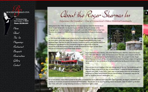 Screenshot of About Page rogershermaninn.com - About | - captured March 11, 2016