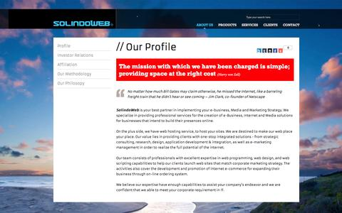 Screenshot of About Page Privacy Page Terms Page solindoweb.com - SolindoWeb :: Web Design Surabaya :: About Us - captured April 22, 2016