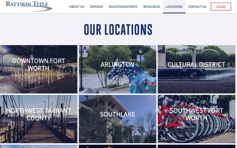 Screenshot of Locations Page rattikintitle.com - Our Locations - captured Oct. 19, 2018