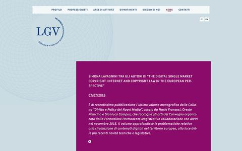 Screenshot of Press Page lgvavvocati.it - News - lgv - captured July 10, 2016