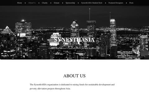 Screenshot of About Page wordpress.com - About Us | SynesthAsia - captured Sept. 12, 2014