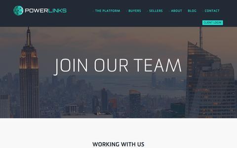 Screenshot of Jobs Page powerlinks.com - Powerlinks Careers - Powerlinks - captured Nov. 11, 2015