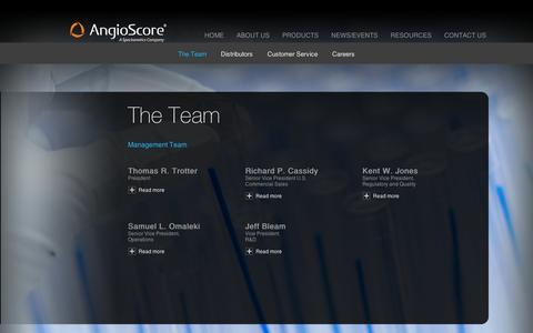Screenshot of About Page angioscore.com captured Sept. 11, 2014
