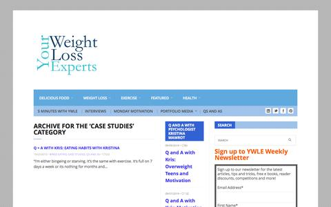 Screenshot of Case Studies Page yourweightlossexperts.com - Case Studies Archives - Your Weight Loss Experts - captured Sept. 19, 2014