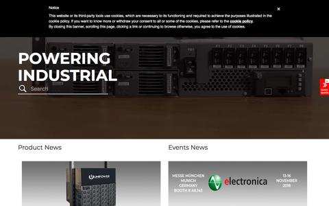 Screenshot of Home Page unipowerco.com - Industrial Power Solutions: Commercial Power Systems & Supplies - UNIPOWER LLC - captured Sept. 25, 2018