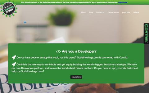 Screenshot of Developers Page socialholdings.com - Welcome to socialholdings.com - captured Dec. 6, 2016