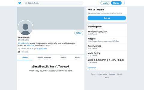 Tweets by Intel Sec Biz (@IntelSec_Biz) – Twitter