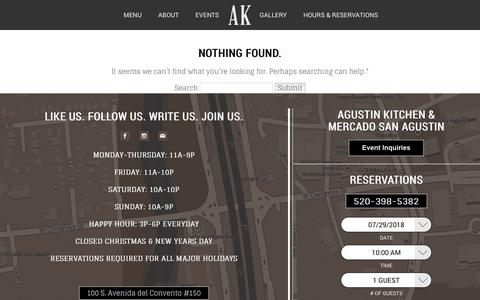 Screenshot of Press Page agustinkitchen.com - Agustin Kitchen - captured July 29, 2018