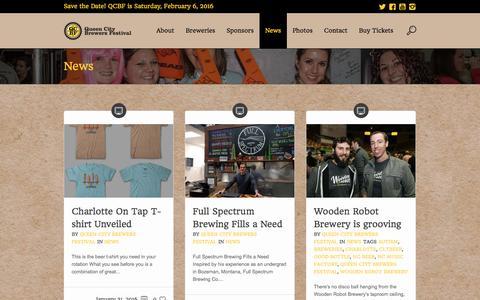 Screenshot of Press Page qcbrewfest.com - News - Queen City Brewers Festival - captured Feb. 1, 2016