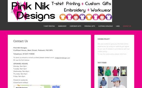 Screenshot of Contact Page pinknikdesigns.com - Contact Us | Pink Nik Designs - captured Dec. 9, 2015