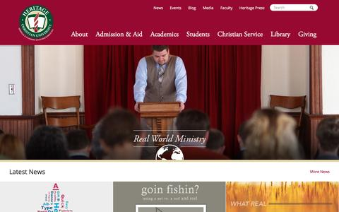 Screenshot of Home Page hcu.edu - HCU - Heritage Christian University - Florence, Alabama - captured Jan. 28, 2016