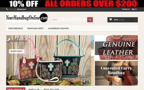 Screenshot of Home Page yourhandbagonline.com - Your Handbag Online - Your Handbag Online - captured Aug. 23, 2016