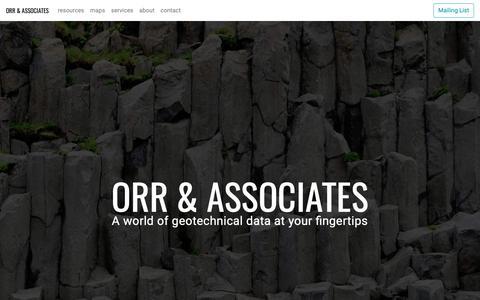 Screenshot of Home Page orrbodies.com - Orr & Associates - captured Oct. 31, 2018