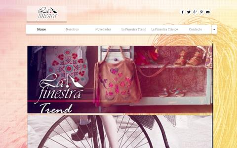 Screenshot of Home Page lafinestracalzados.com.ar - La Finestra - captured Sept. 24, 2015