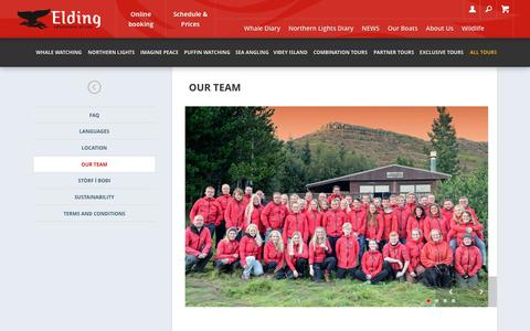 Screenshot of Team Page elding.is - Our team | Elding - Hvalaskoðun - captured May 16, 2017