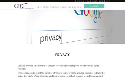 Screenshot of Privacy Page card-group.com - Privacy - CARD Group | Market Research Agency - captured May 20, 2016