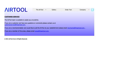 Screenshot of Support Page theairtool.com - Untitled Document - captured Oct. 4, 2014