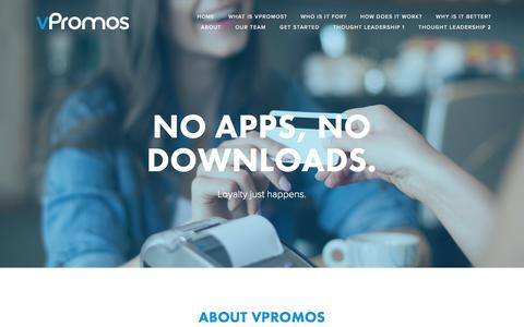 Screenshot of About Page vpromos.com - No apps, no downloads. — vPromos - captured Oct. 11, 2017