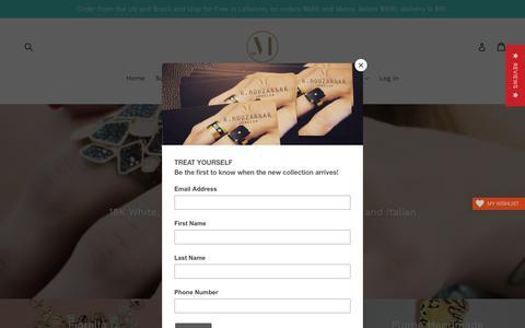 Screenshot of Home Page mouzannar.com - Razzouk S. Mouzannar Jewelry Creations Zalka Beirut Lebanon - captured Oct. 18, 2018