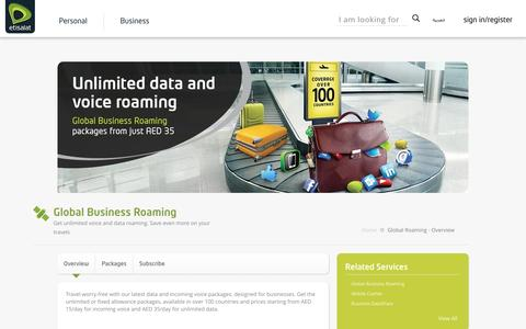 Etisalat UAE | Business Services | Global Business Roaming