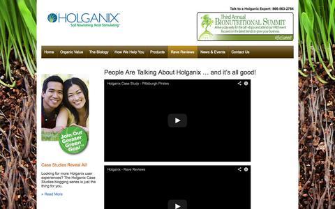 Screenshot of Testimonials Page holganix.com - Holganix - Holganix testimonials - captured Sept. 16, 2014