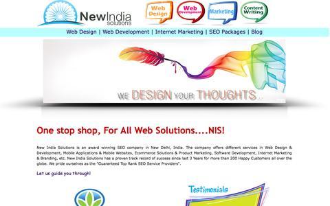 Screenshot of Home Page Privacy Page newindiasolutions.com - Website Design, CMS Development,  Ecommerce Solutions & Internet Marketing - captured Sept. 24, 2014