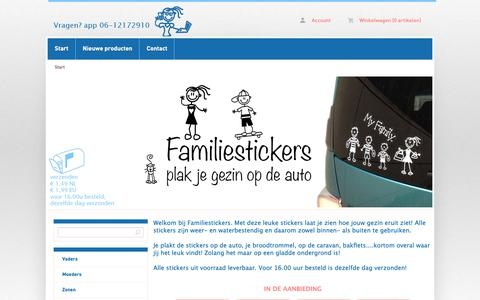 Screenshot of Home Page familiestickers.nl - Start - Familiestickers.nl - captured Oct. 10, 2018