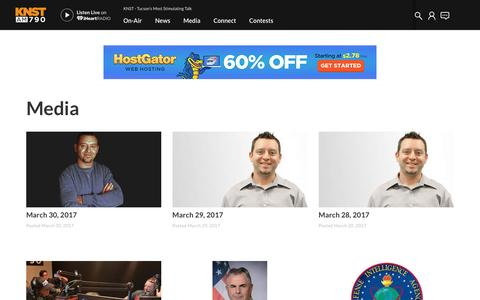 Screenshot of Press Page iheart.com - Get Top Podcasts, Interviews & Videos from KNST - captured April 2, 2017