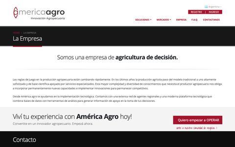 Screenshot of About Page america-agro.com.ar - America Agro - Innovación Agropecuaria - captured Nov. 12, 2018