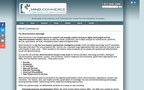 Screenshot of About Page mindcommerce.com - Mind Commerce - Research and Reports - captured Dec. 7, 2016