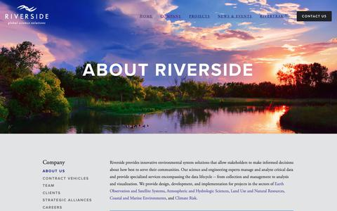 Screenshot of About Page riverside.com - About Us — Riverside Technology, inc - captured Feb. 26, 2019
