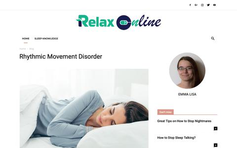 Screenshot of Home Page relax-online.com - Relax-Online.com - Relax Your Mind, Reduce Stress, Sleep Guide - captured Nov. 25, 2018