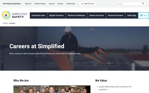 Screenshot of Jobs Page simplifiedsafety.com - Careers at Simplified Safety - captured Feb. 5, 2019