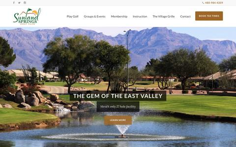 Screenshot of Home Page Terms Page sunlandspringsgolf.com - Sunland Springs Golf Club - captured Jan. 25, 2017