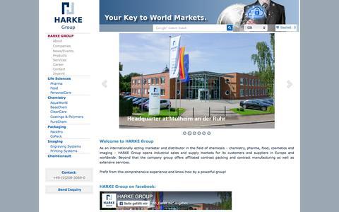 Screenshot of Home Page harke.com - HARKE Group - captured Oct. 3, 2016