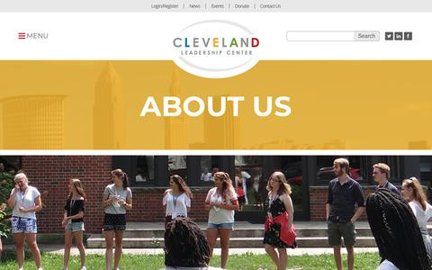 Screenshot of About Page cleveleads.org - About Us - Cleveland Leadership Center - captured Sept. 28, 2018
