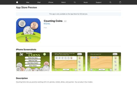 Counting Coins on the AppStore